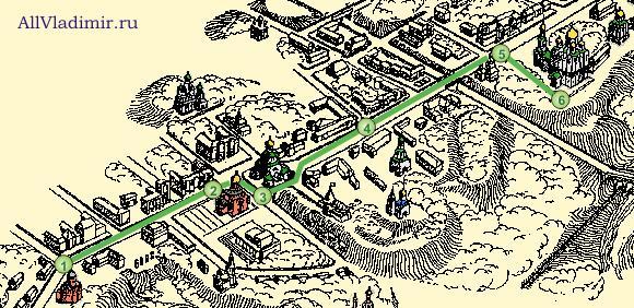Схема маршрута .